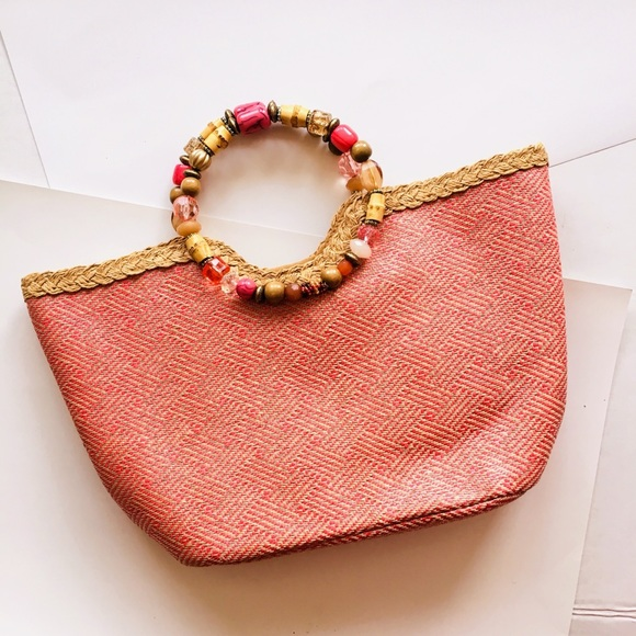 Cappelli Handbags - Cappelli Straworld Coral Bag
